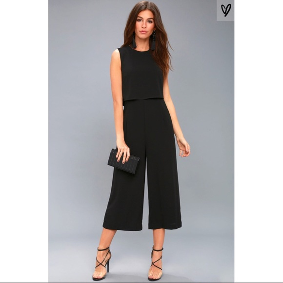 ad52e04e0a23 Lulu s Pants - Glam-Bition Black Backless Midi Jumpsuit LuLu s